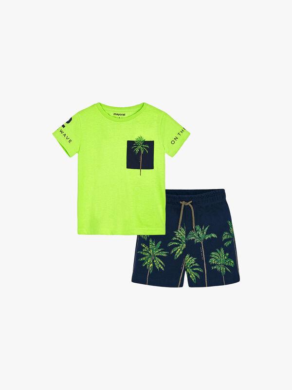 Palm Tree Short Set