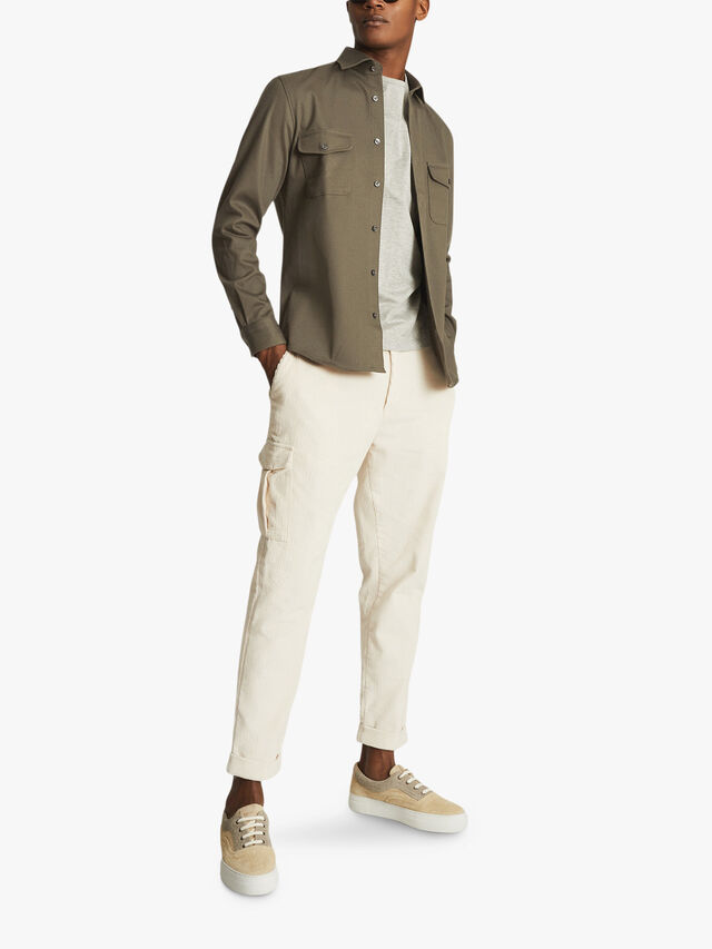 PRICEY Heavy Twill Twin Pocket Overshirt
