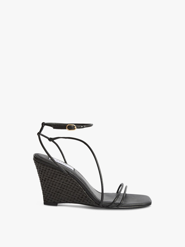 KALIWEDGE Leather Strappy Wedged Sandal