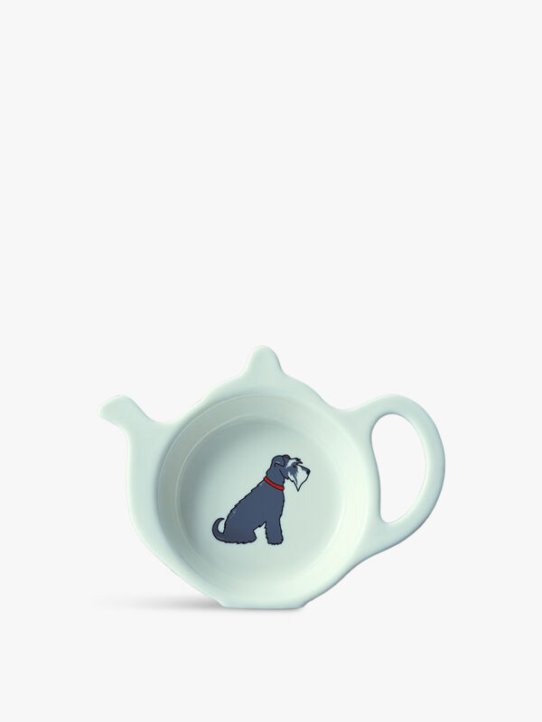 Teabag Dish Schnauzer Grey