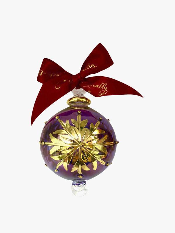 Large Snowflake Purple Ornament