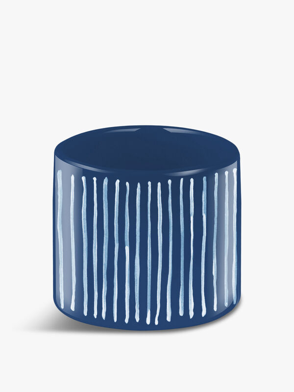 Indigo Striped Organic Planter