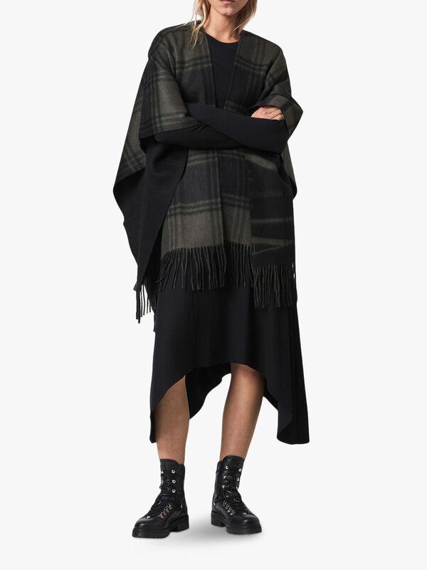 Phoenix Ruana Wool Scarf