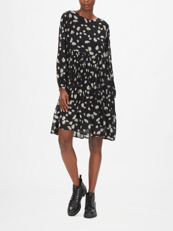 Norina Long Sleeve Georgette Printed Dress