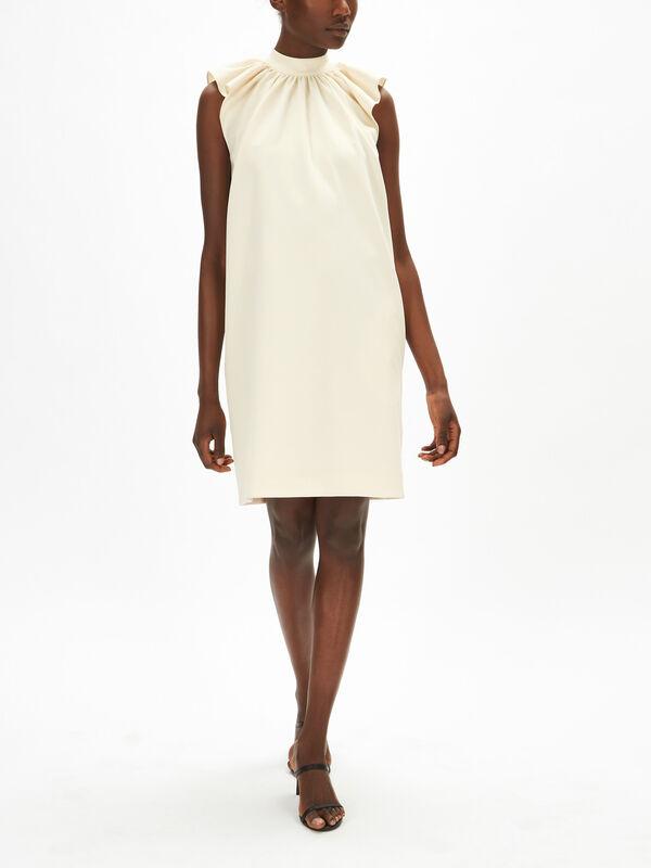Ruched Shoulder Sleeveless Dress