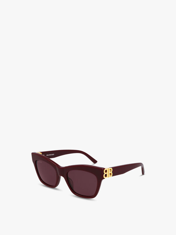 Square Butterfly Logo Arm Acetate Sunglasses