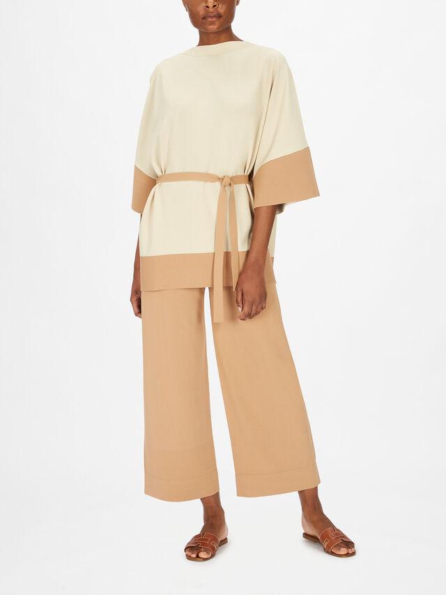 Drop Shoulder Block Colour Hem Tunic