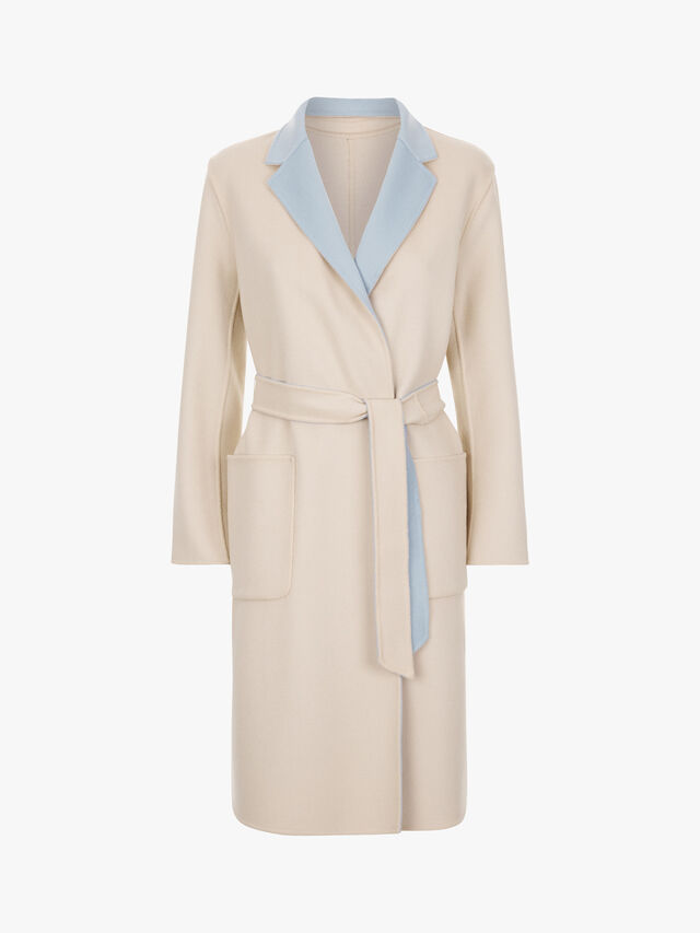 Didy Bicolour Belted Coat