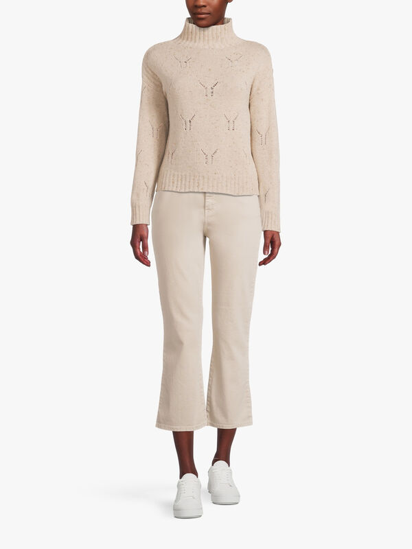 Trina High Neck Cable Knit
