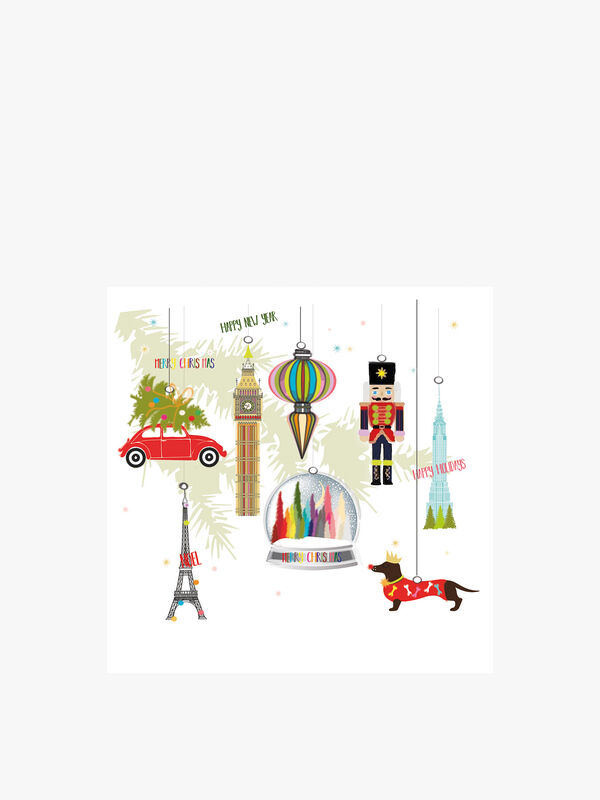 Ornaments Cards Pack of 6