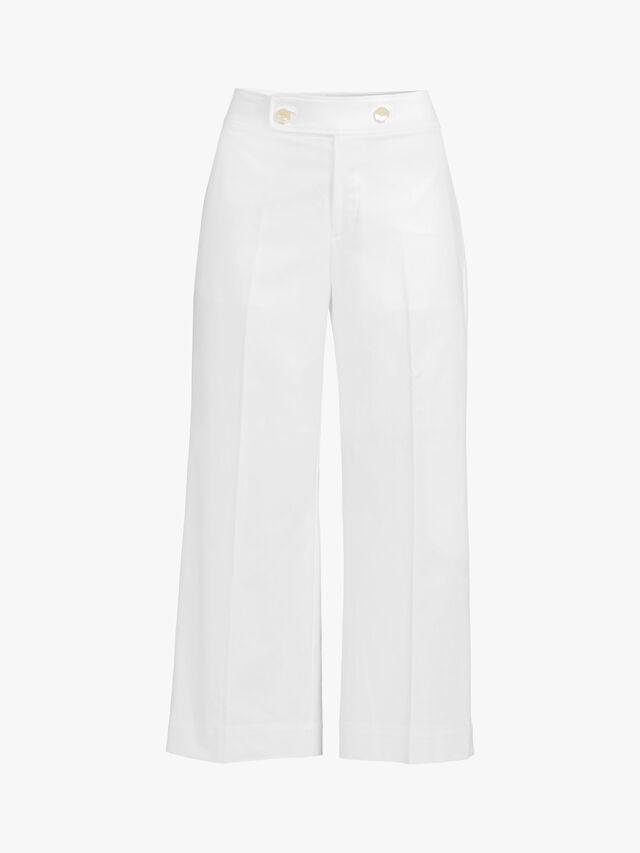 Quintona Wide Leg Stretch Cotton Trouser