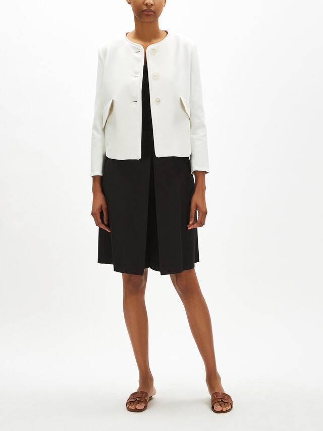 Collarless Clean Jacket