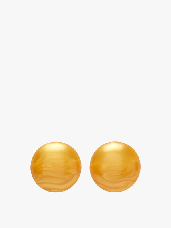 Large Circle Stud Earrings