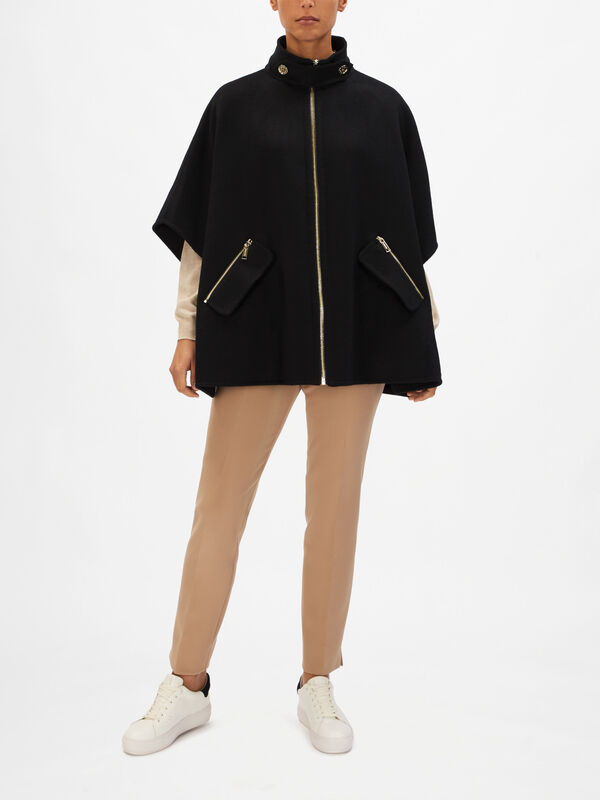 Double Face Short-Sleeve Coat