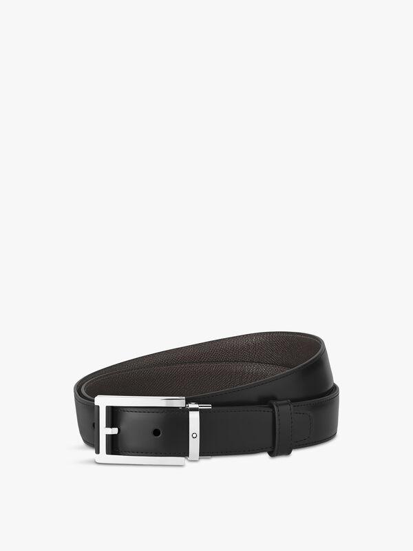 Classic Rectangular Black & Brown Belt