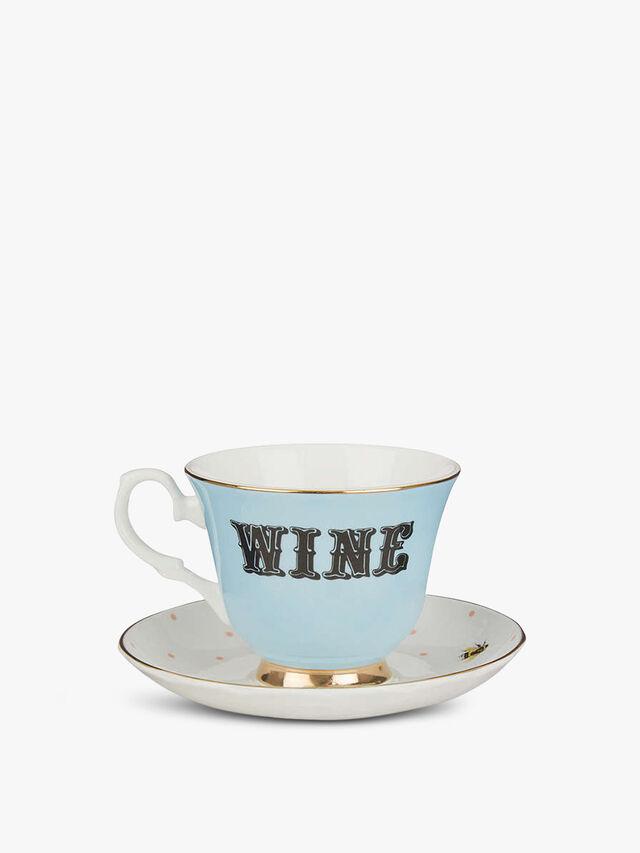 Wine Teacup & saucer