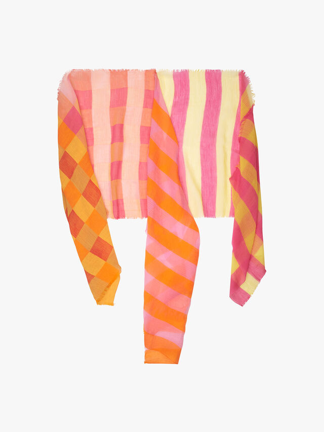 Stripe Check Scarf