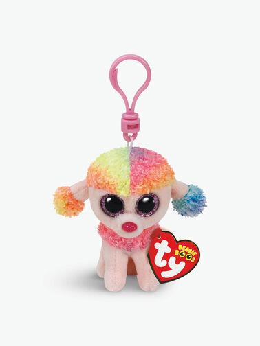 Rainbow Poodle Boo Key Clip