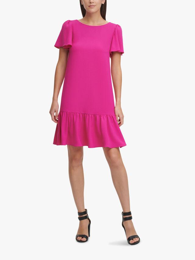 Peplum Hem Mini Dress