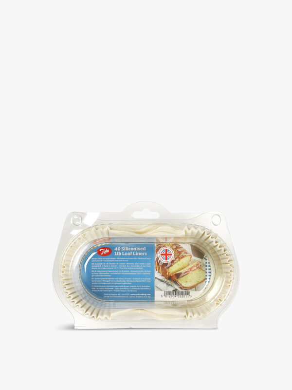 Siliconised Loaf Liners Pack 40