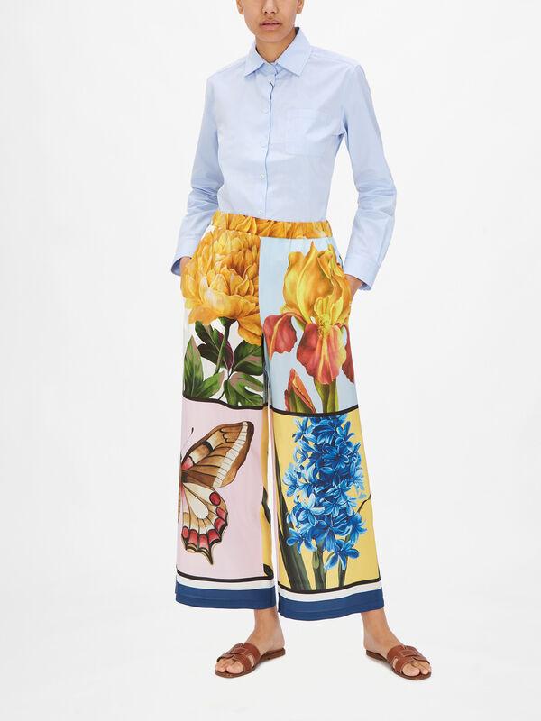 Aloa Elasticated Waist Printed Culotte