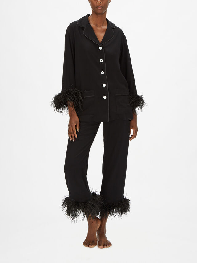 Party Pajama Set with Double Feathers