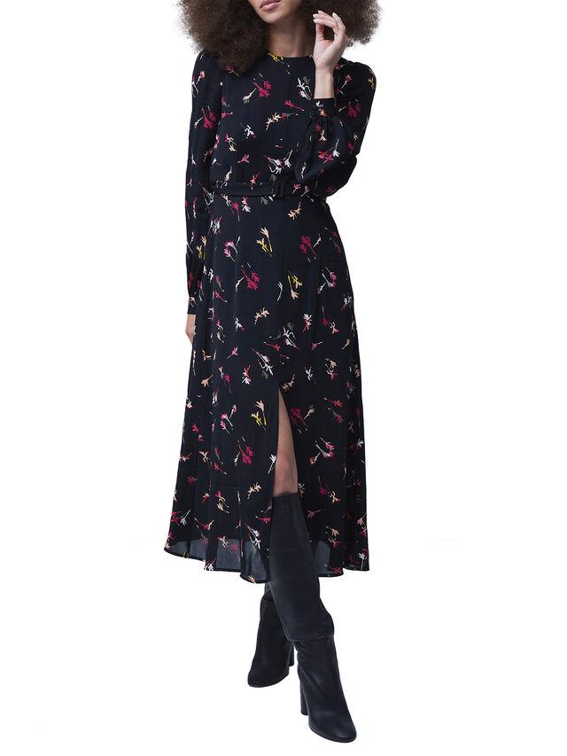 Chiara Drape Midi Dress