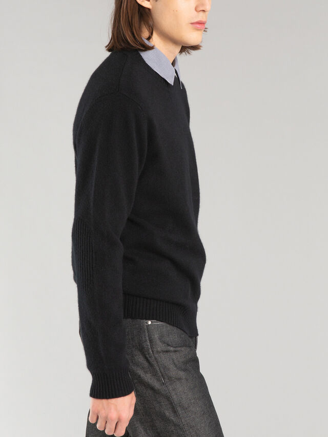 Cashmere Jumper With Elbow Caps