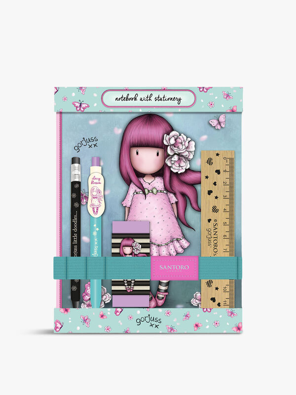 Gorjuss Sparkle & Bloom Notebook Stationery Set