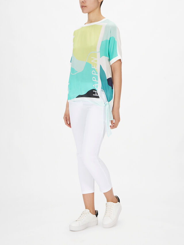 Graphic Front Top With Side Tie