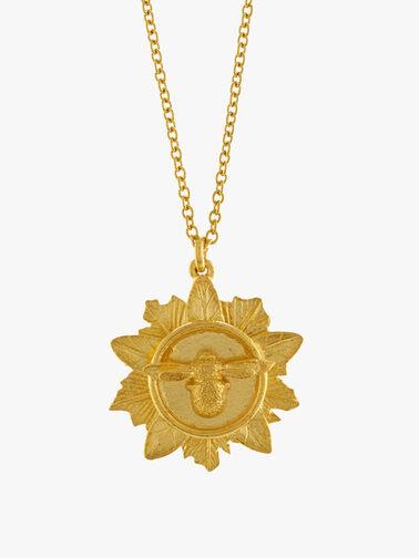 Bee Leaf Medal Necklace