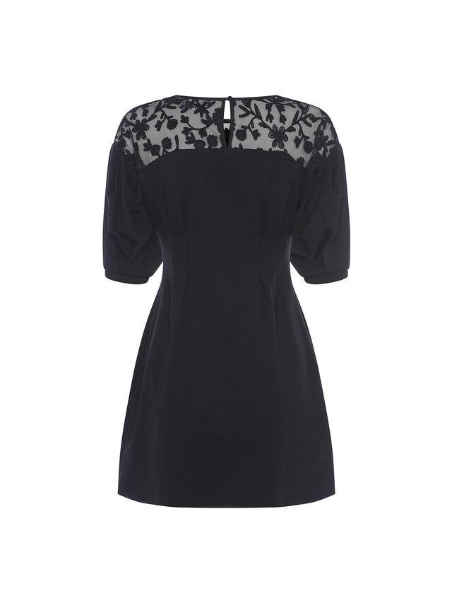 Sashi Embroidered Puff Sleeve Dress