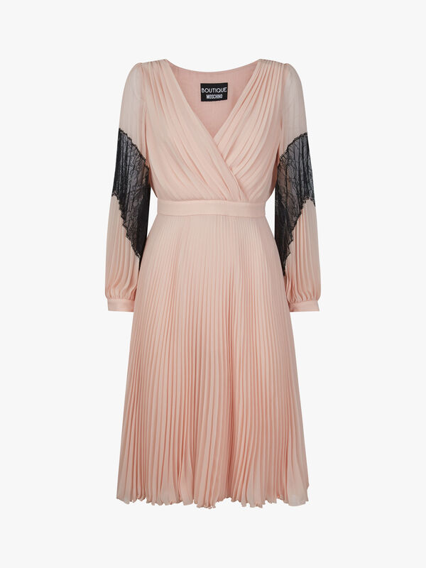 Lace Insert Midi Dress