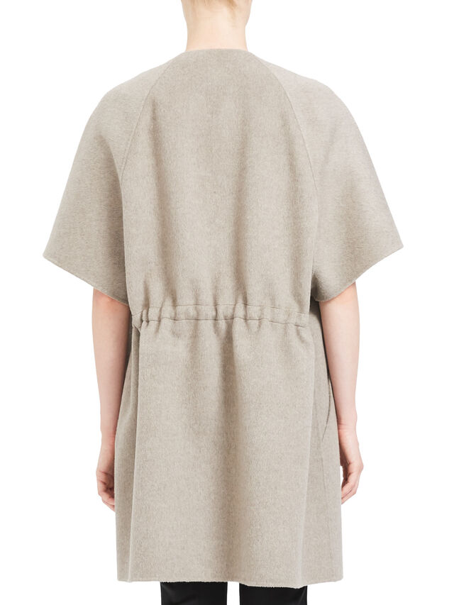 Short Sleeve Straight Bell Coat
