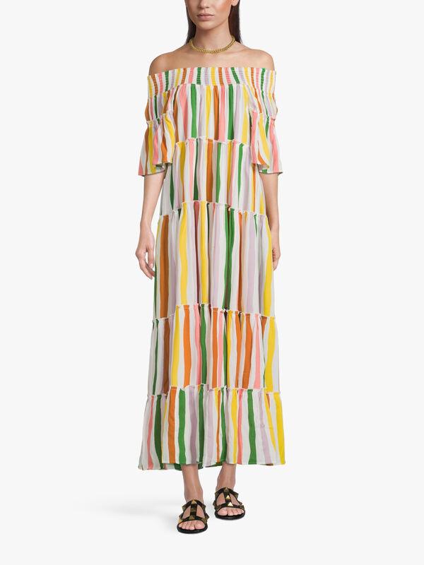 Sadie Stripe Bardot Dress