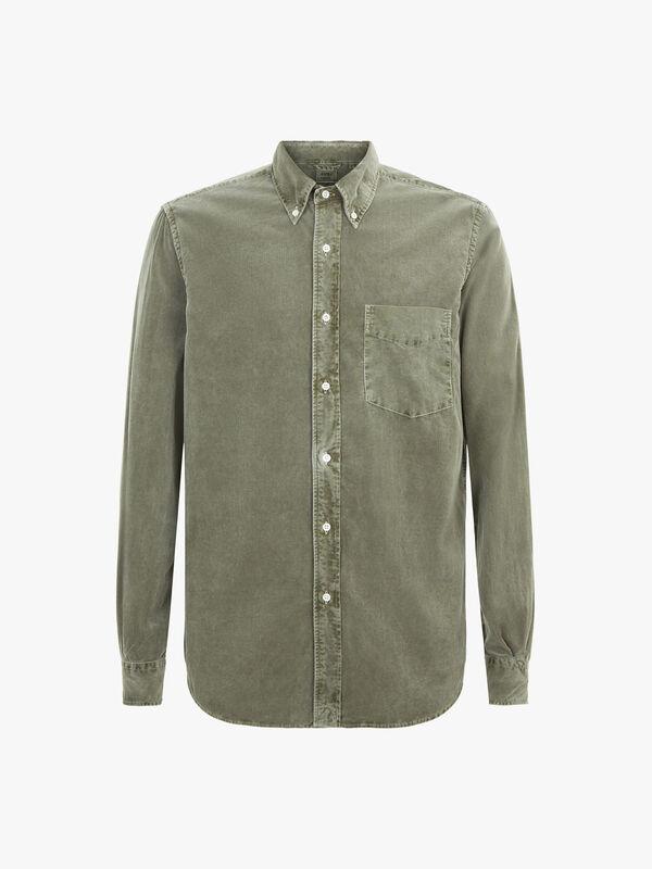 Garment Dye Baby Cord Shirt
