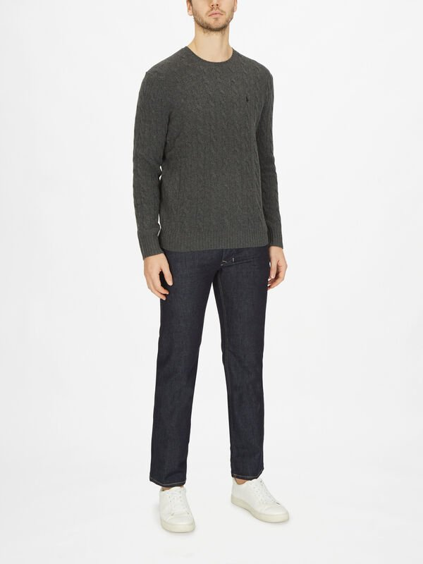 Cashmere Cable Knit Sweatshirt