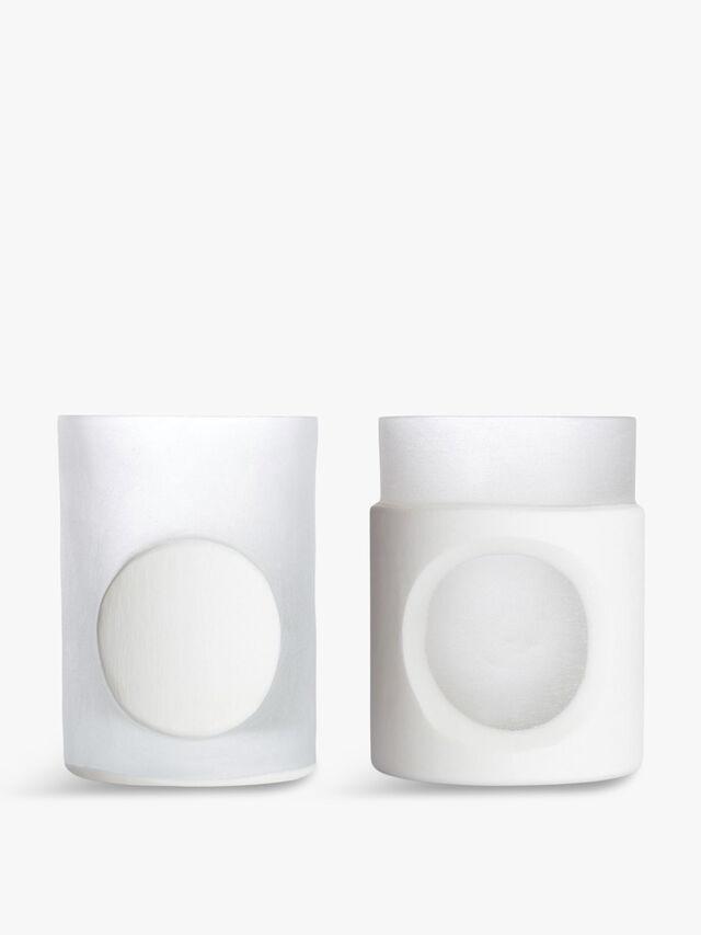 Carved Stem Vase Set Of 2