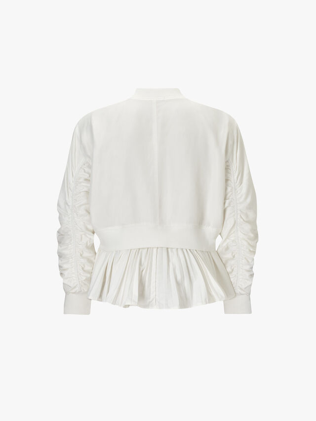 Bomber Jacket with Pleating