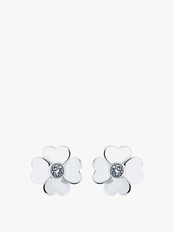 Hamzi Heart Flower Stud Earrings