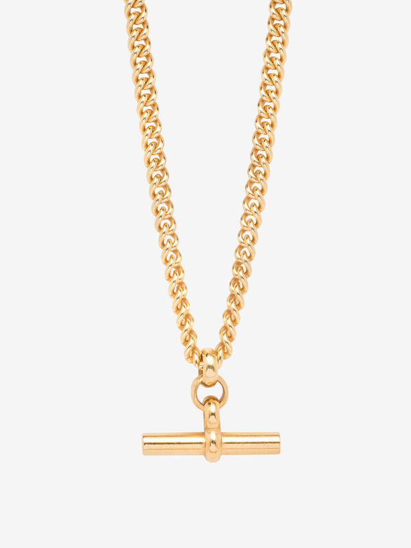 Med T-Bar Chunky Curb Necklace