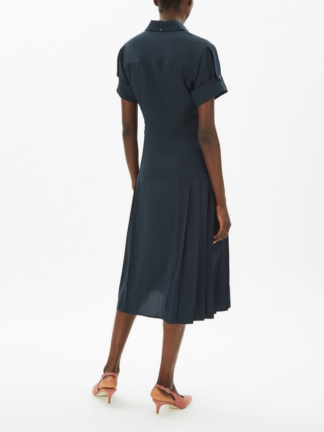 Vettura Short Sleeve Midi Shirt Dress