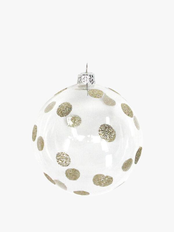 Glittery Polka Dot Christmas Bauble