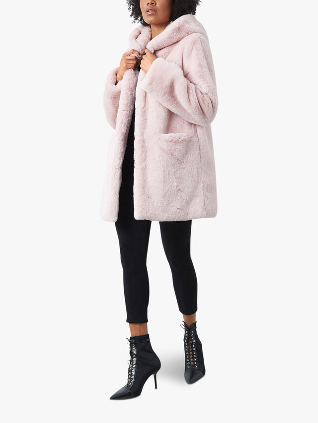 Front Pocket Faux Fur Coat
