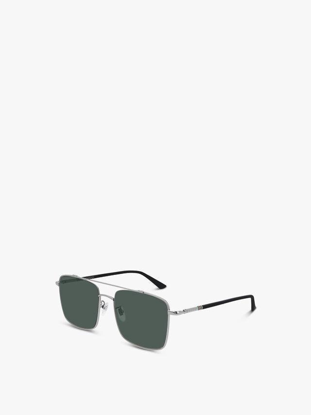 Square Aviator Metal Sunglasses