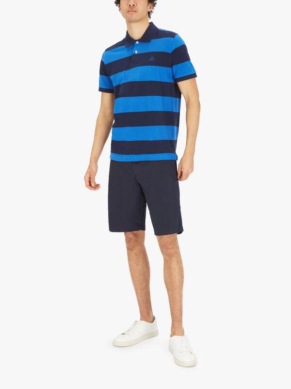 Barstripe Pique Rugger Polo Shirt