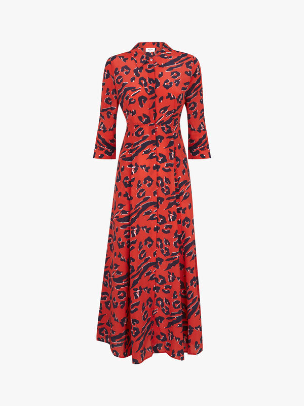 Rosedene ¾ Sleeve Maxi Shirt Dress