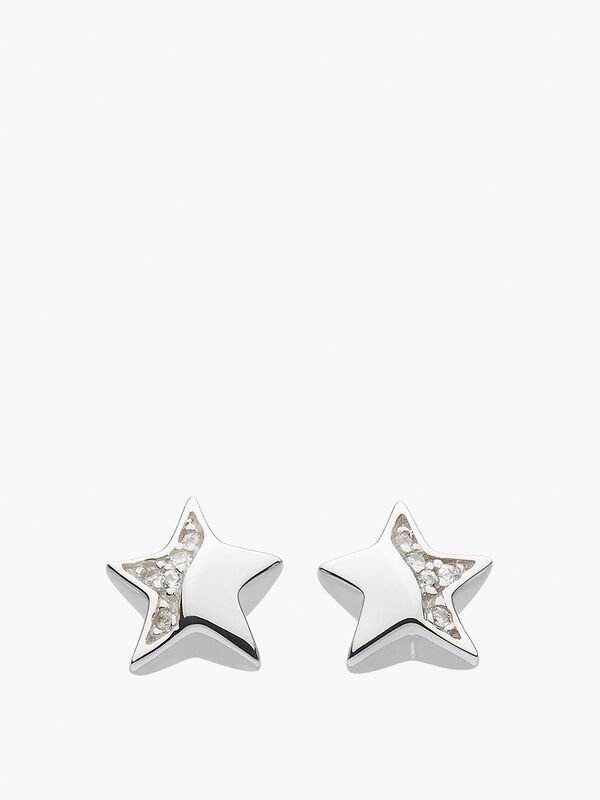 Minature Sparkle Star Studs