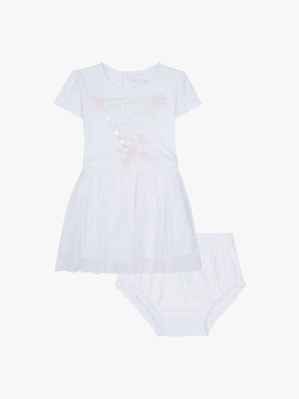 Interlock Dress With Plumetis