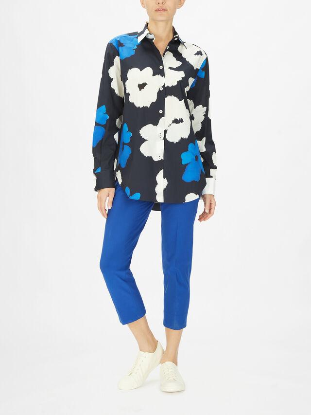 Flower Print Cotton Shirt